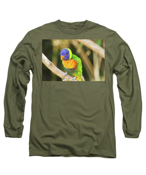 Beautiful Perched Mccaw On A Branch. Long Sleeve T-Shirt