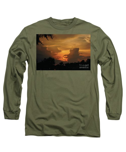 Long Sleeve T-Shirt featuring the photograph Beautiful Sunset by Debra Crank