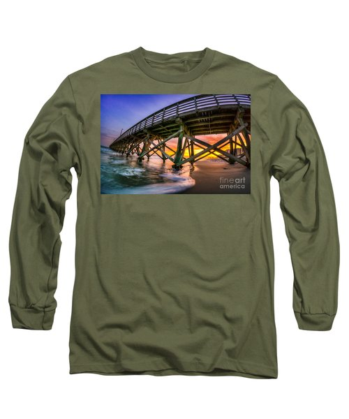 Beautiful Sunset In Myrtle Beach Long Sleeve T-Shirt by David Smith