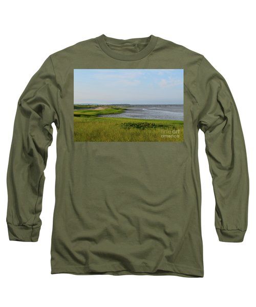 Beautiful Views Of Powder Point Bridge And Duxbury Bay Long Sleeve T-Shirt