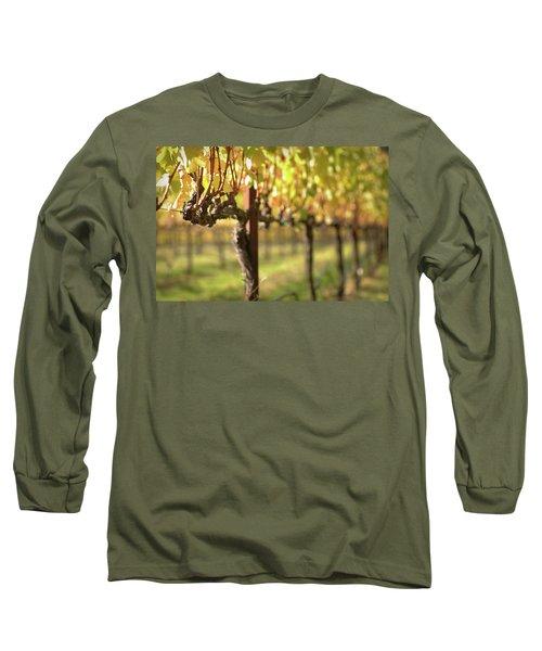 Beautiful Vineyard In Napa Valley Long Sleeve T-Shirt