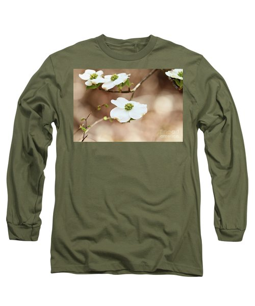 Long Sleeve T-Shirt featuring the photograph Beautiful White Flowering Dogwood Blossoms by Stephanie Frey