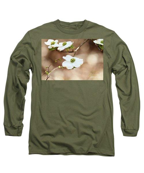 Beautiful White Flowering Dogwood Blossoms Long Sleeve T-Shirt