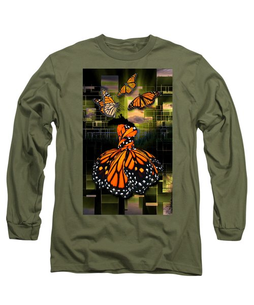 Long Sleeve T-Shirt featuring the mixed media Beauty In All Things by Marvin Blaine