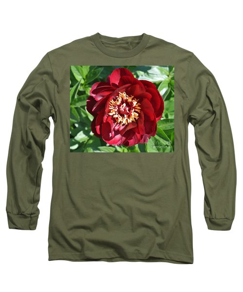 Beauty Peony Bloom Long Sleeve T-Shirt by Marsha Heiken