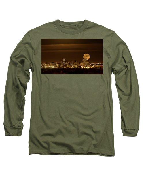 Beaver Moonrise Long Sleeve T-Shirt by Kristal Kraft