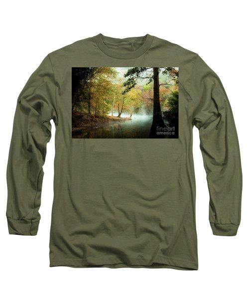 Beavers Bend Creek In Fall Long Sleeve T-Shirt by Iris Greenwell