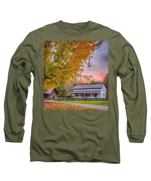 Long Sleeve T-Shirt featuring the photograph Becky Cabel House by Tyson and Kathy Smith
