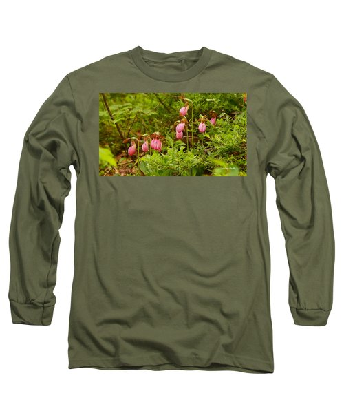 Bed Of Lady's Slippers Long Sleeve T-Shirt