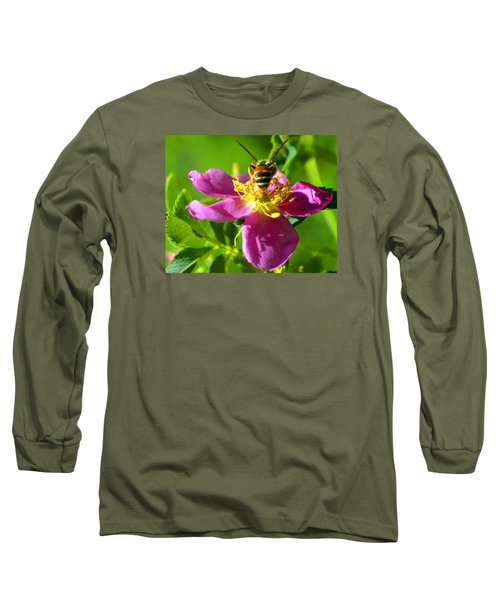 Bee Here Now Long Sleeve T-Shirt by Susanne Still