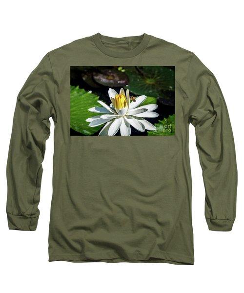 Bee In A Flower Long Sleeve T-Shirt