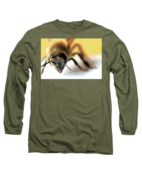 Long Sleeve T-Shirt featuring the photograph Bee In Macro 5 by Micah May