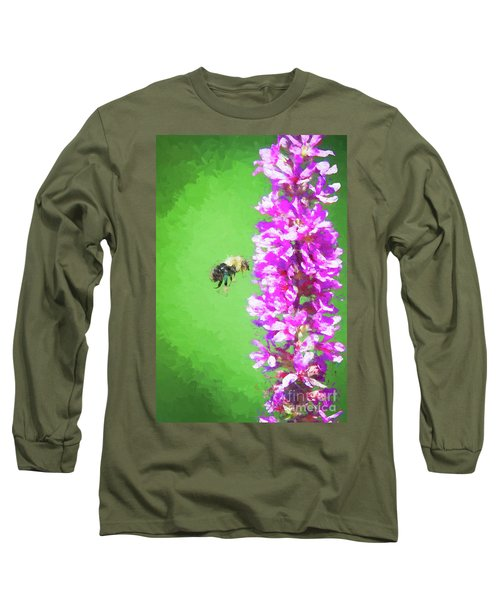 Bee Kissing A Flower Long Sleeve T-Shirt