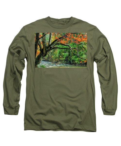 Beech Tree And Swinging Bridge Long Sleeve T-Shirt