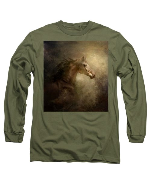 Long Sleeve T-Shirt featuring the photograph Behind Broken Mirror by Dorota Kudyba