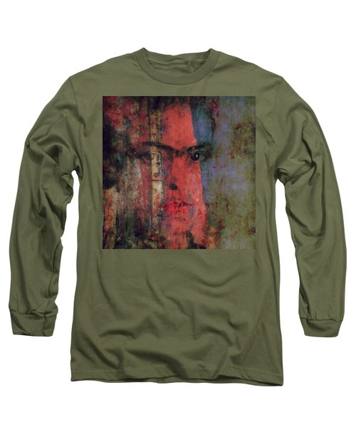 Long Sleeve T-Shirt featuring the painting Behind The Painted Smile by Paul Lovering