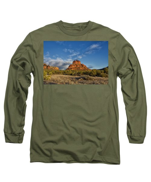 Long Sleeve T-Shirt featuring the photograph Bell Rock Beams by Tom Kelly