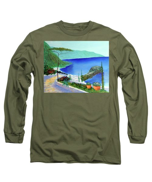 Long Sleeve T-Shirt featuring the painting Bella Monaco  by Larry Cirigliano