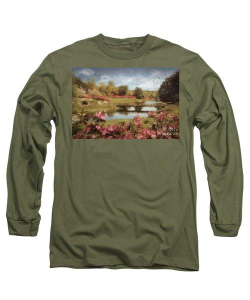 Long Sleeve T-Shirt featuring the digital art Bellingrath Gardens by Lianne Schneider