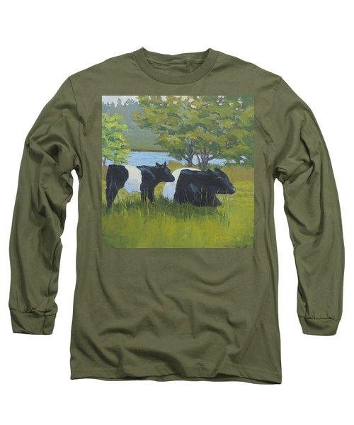 Belted Galloway And Calf Long Sleeve T-Shirt
