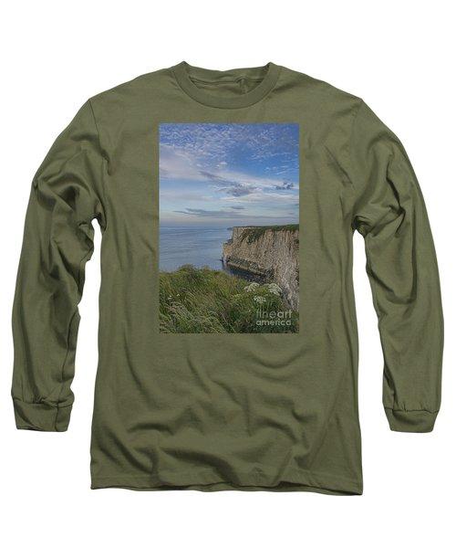 Bempton View Long Sleeve T-Shirt by David  Hollingworth