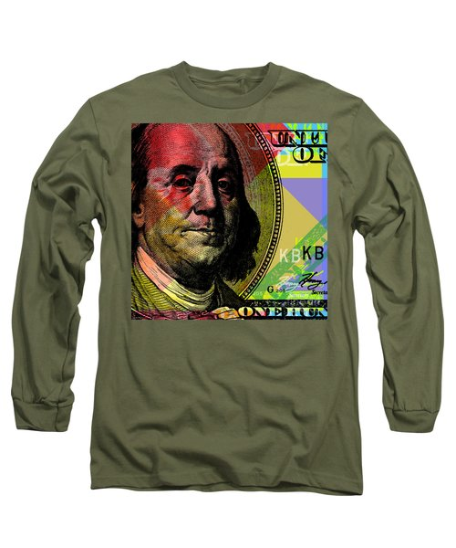Benjamin Franklin - $100 Bill Long Sleeve T-Shirt