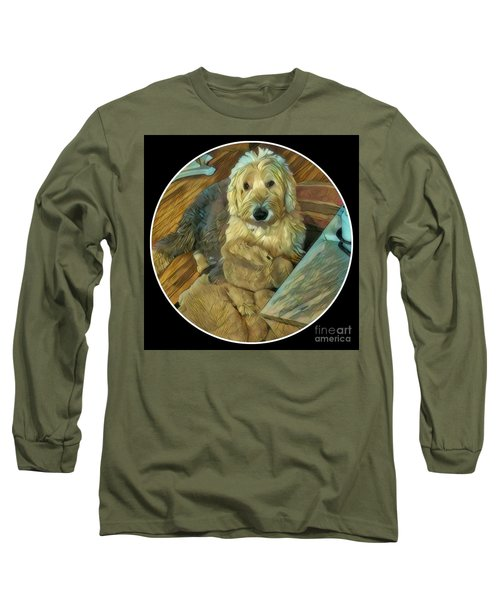 Bentley With His Baby Long Sleeve T-Shirt by Jodie Marie Anne Richardson Traugott          aka jm-ART