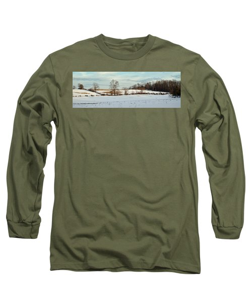Berkshire Meadow - Winter Panoramic Long Sleeve T-Shirt