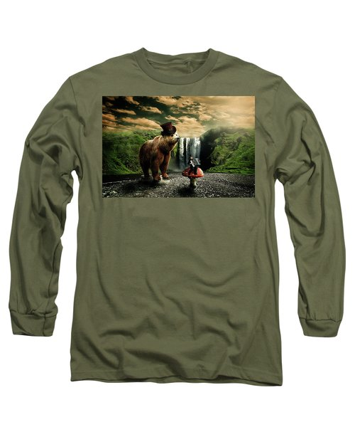 Berlin Bear Long Sleeve T-Shirt by Nathan Wright
