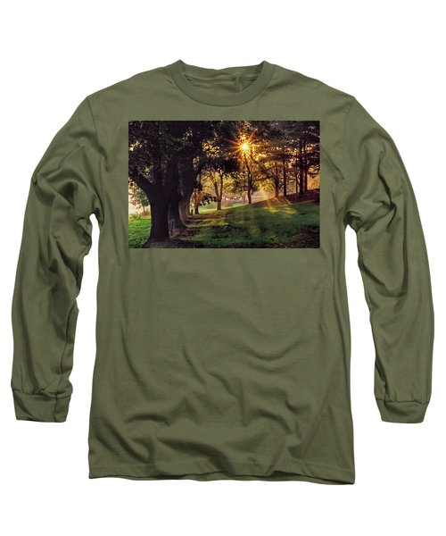 Bernharts Dam Fog 001 Long Sleeve T-Shirt