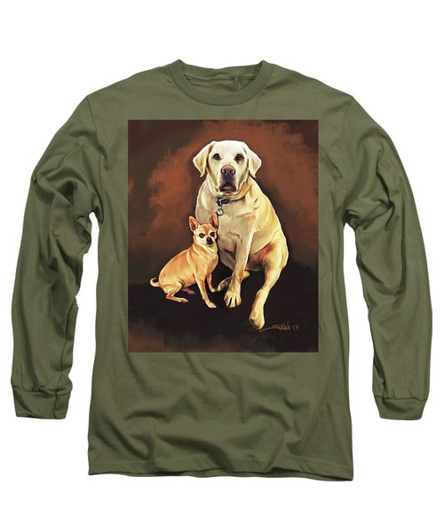 Best Friends By Spano Long Sleeve T-Shirt by Michael Spano