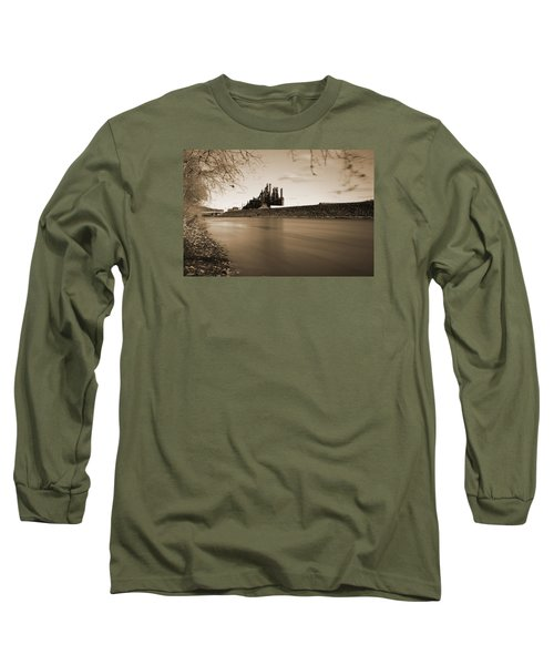 Bethlehem Steel Along The Lehigh Long Sleeve T-Shirt by Jennifer Ancker