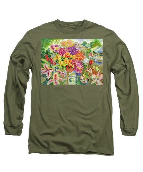 Betsy's Dahlias II Long Sleeve T-Shirt