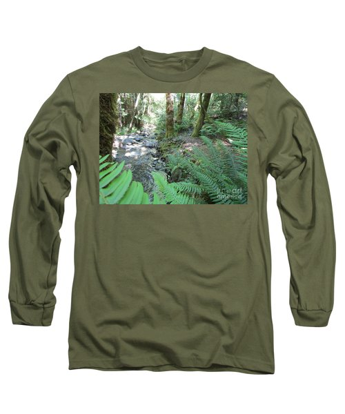 Long Sleeve T-Shirt featuring the photograph Beyond The Ferns by Marie Neder