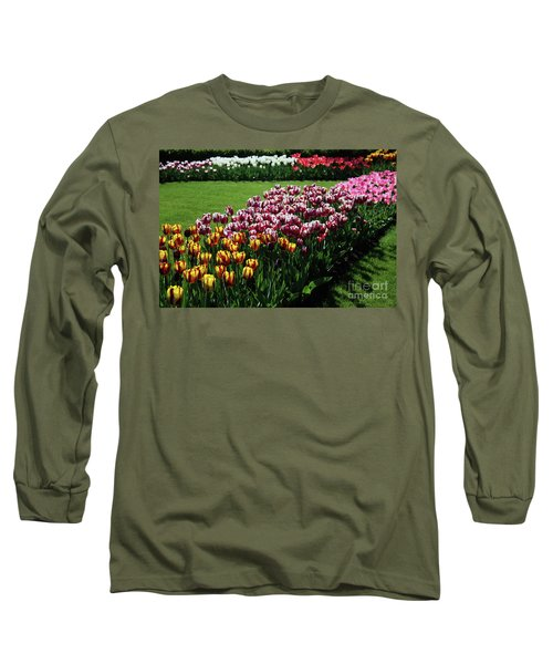 Multicolor Tulips Long Sleeve T-Shirt by Ana Mireles