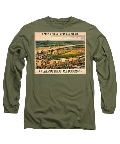 Long Sleeve T-Shirt featuring the photograph Bicycle Camp 1883 by Padre Art