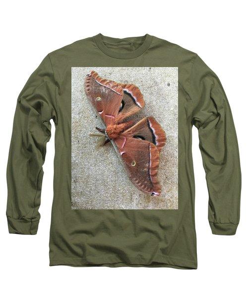 Big Beautiful Silk Moth Long Sleeve T-Shirt