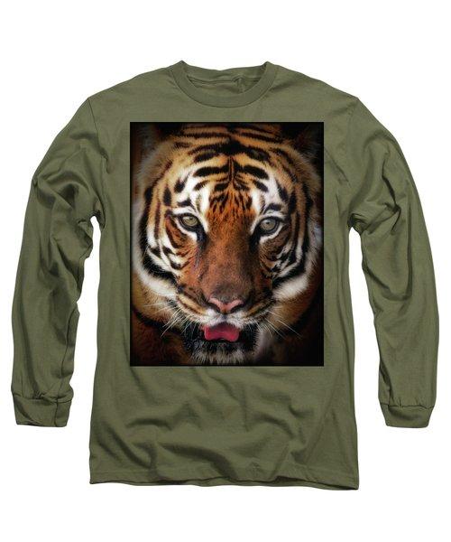 Big Cat Stare Down Long Sleeve T-Shirt