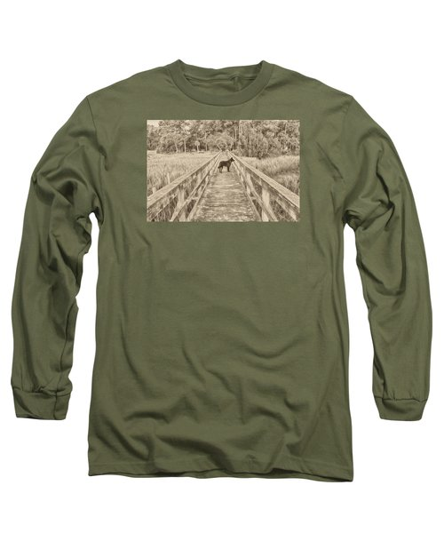 Long Sleeve T-Shirt featuring the photograph Big Dog by Margaret Palmer