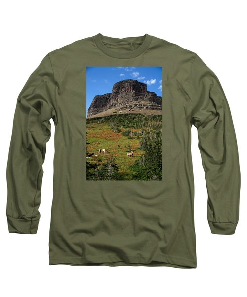 Big Horn Sheep Long Sleeve T-Shirt by Lawrence Boothby
