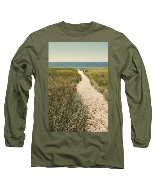 Long Sleeve T-Shirt featuring the photograph Big Lake Beach Path by Michelle Calkins