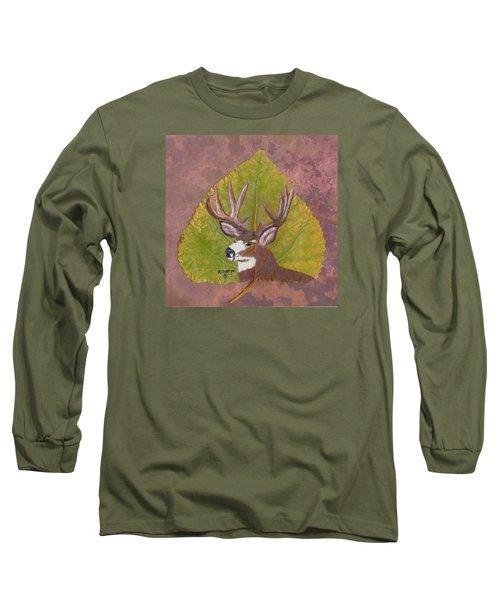 Big Mule Deer Buck Long Sleeve T-Shirt