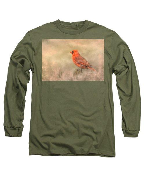 Big Red Long Sleeve T-Shirt