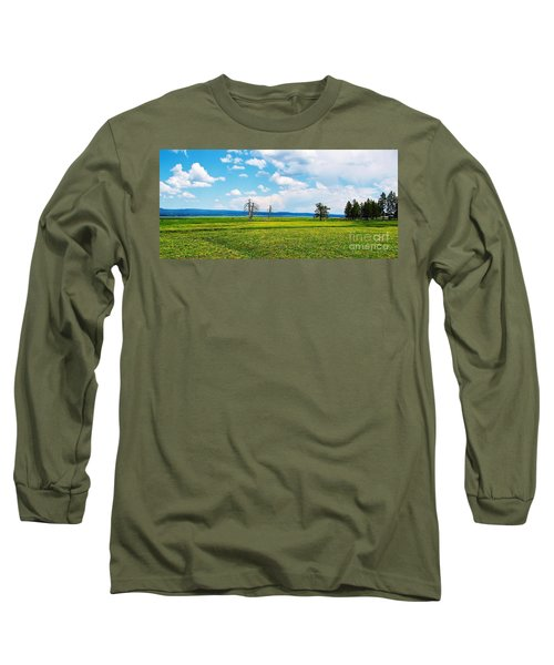 Big Summit Prairie In Bloom Long Sleeve T-Shirt by Michele Penner