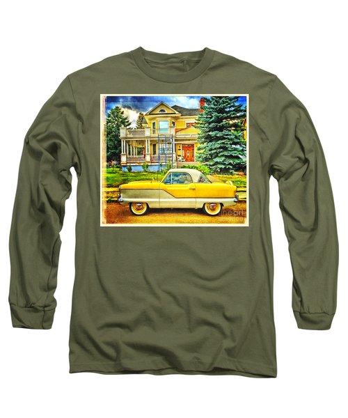 Big Yellow Metropolis Long Sleeve T-Shirt by Craig J Satterlee