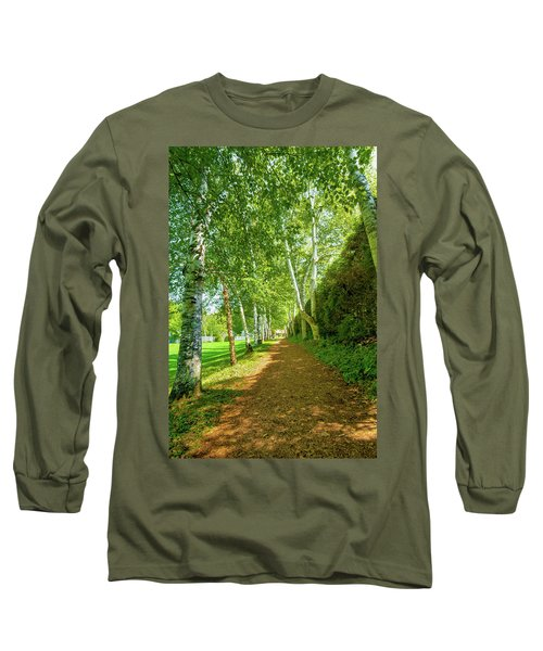 Long Sleeve T-Shirt featuring the photograph Birch Gauntlet by Greg Fortier