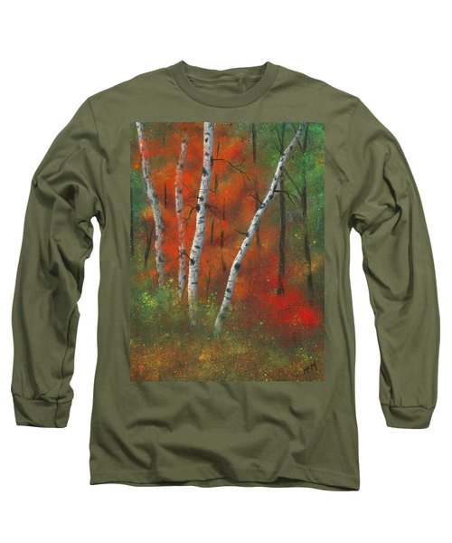 Birches II Long Sleeve T-Shirt by Garry McMichael