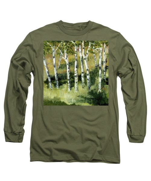 Birches On A Hill Long Sleeve T-Shirt