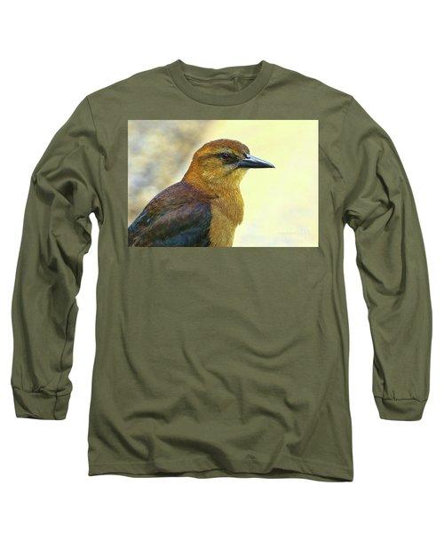 Long Sleeve T-Shirt featuring the photograph Bird Beauty by Deborah Benoit