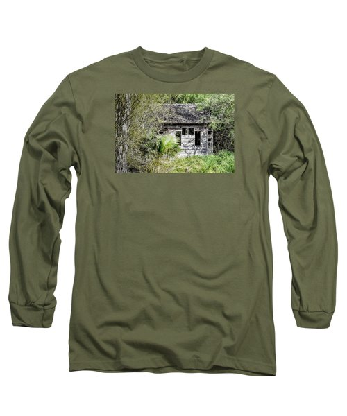Bird Blind At Frontera Audubon Long Sleeve T-Shirt